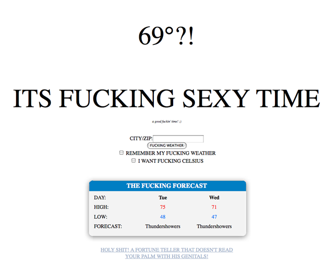 the fucking weather